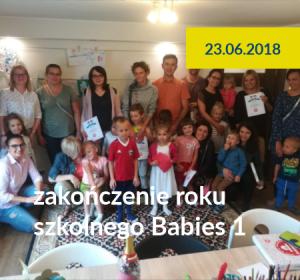 <span>Zakończenie roku grupy Babies 1 / 2018</span><i>→</i>